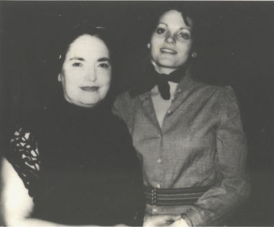 Marilyn Buck with Lolita Lebron in Alderson prison about 1975