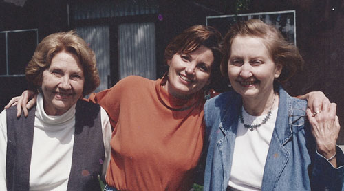 Marilyn Buck with her mother and aunt
