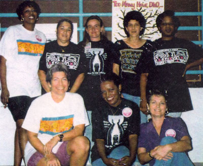 Marilyn Buck with AIDS activists in prison